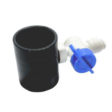 """Prise d'eau 1/4"""" pour tube PVC"""