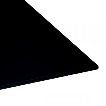 Plaque carrée 500mm en PVC noir